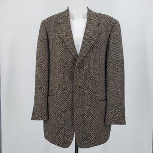 Cavelli Brown/Tan Sport Coat Woven Pattern 42R